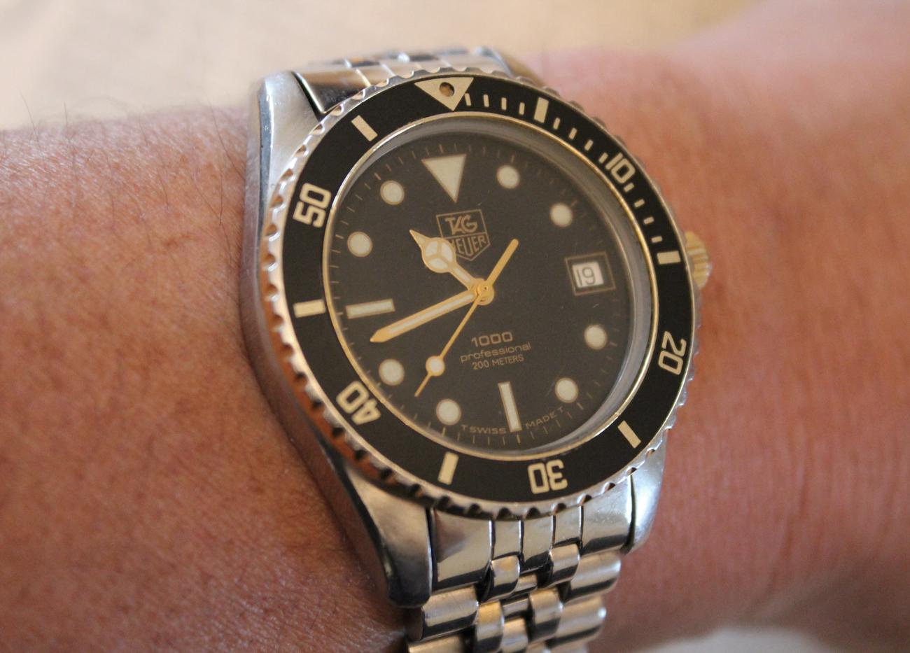 finest selection 50b59 13b30 TAG Heuer 1000 Professional Dive Watch | BladeBarrelBezel.com