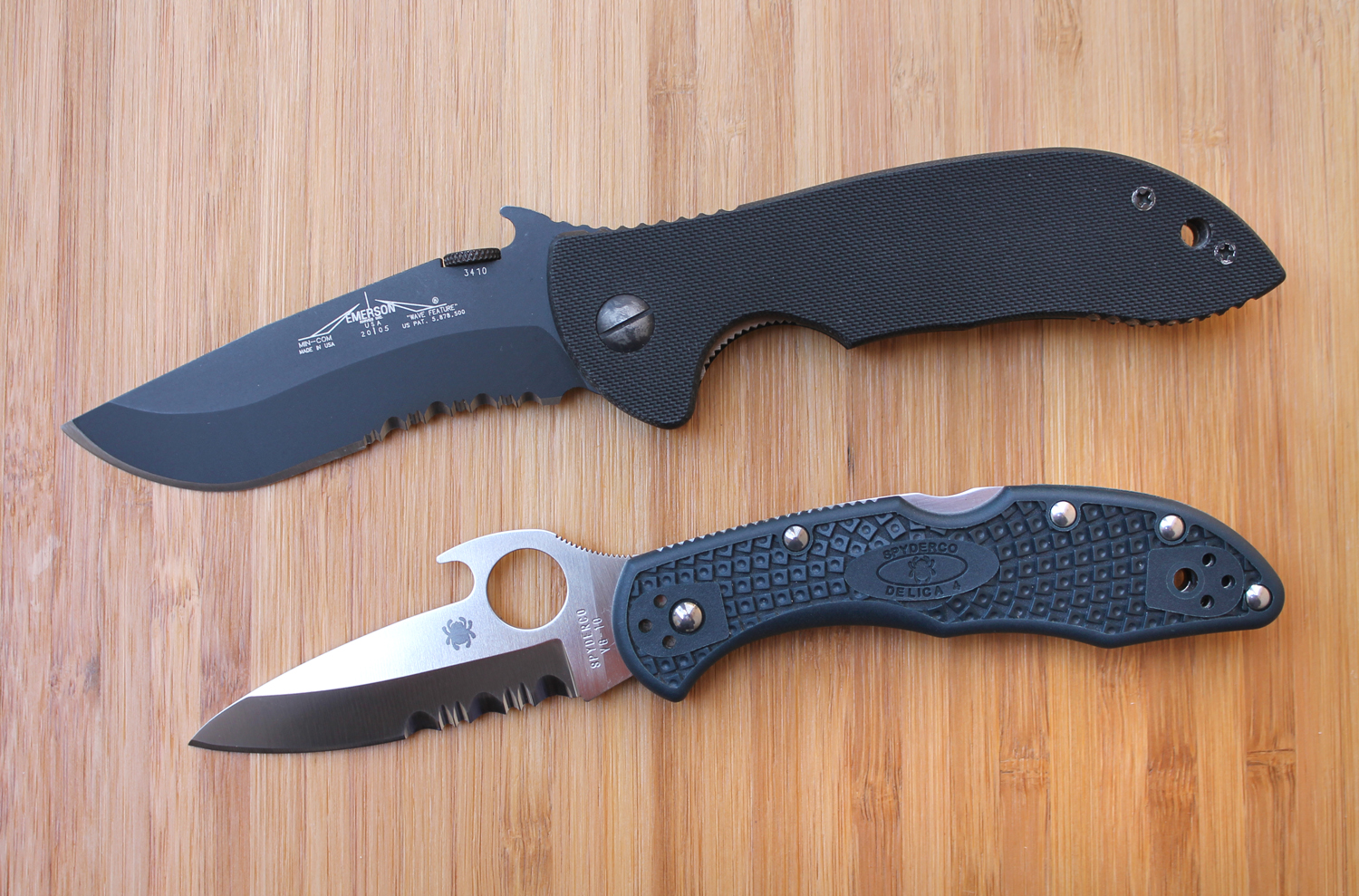 Spyderco delica and endura with emerson opener review for The emerson
