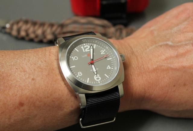 weBBem on wrist NATO strap
