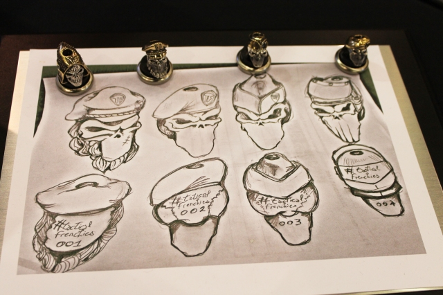 GD Skulls Frenchies Drawing