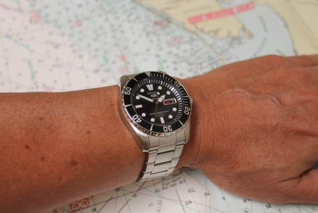Seiko SNZF17 on wrist small