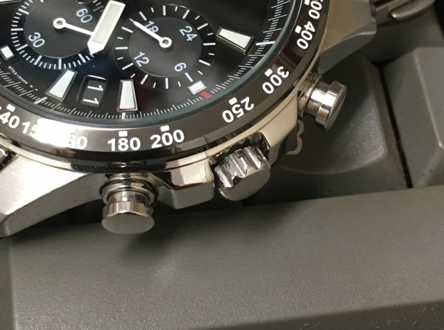 Seiko SSB031 crown and buttons